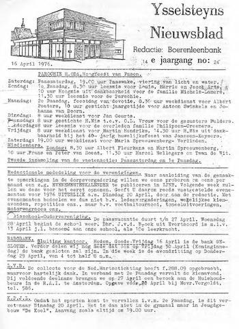 Ysselsteyns Nieuwsblad 1976-04-16
