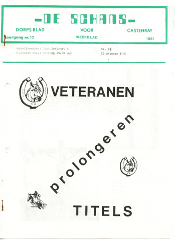 Castenrays dorpsblad De Schans 1981-10-23