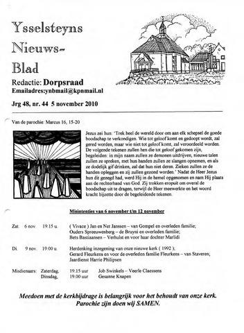Ysselsteyns Nieuwsblad 2010-11-05