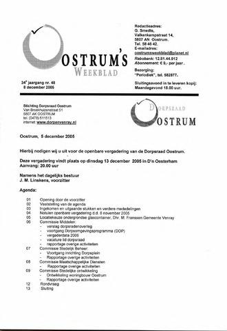Oostrum's Weekblad 2005-12-08