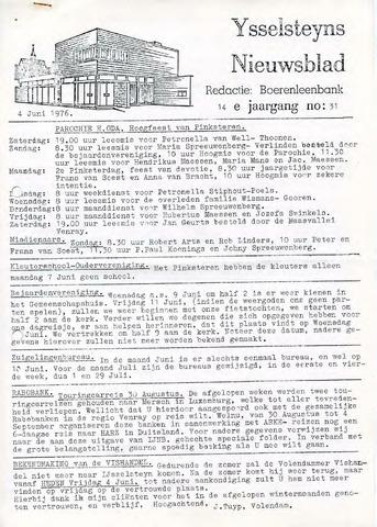 Ysselsteyns Nieuwsblad 1976-06-04