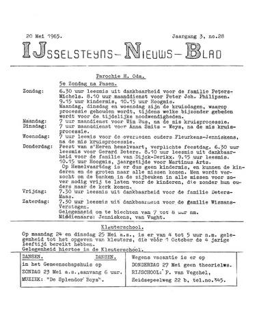 Ysselsteyns Nieuwsblad 1965-05-20