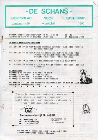 Castenrays dorpsblad De Schans 1990-12-28