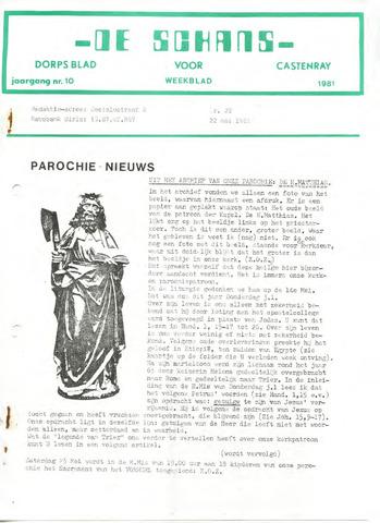 Castenrays dorpsblad De Schans 1981-05-22