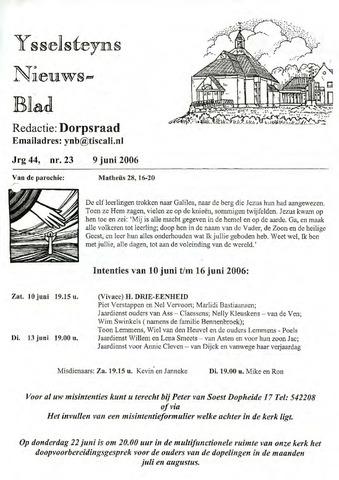 Ysselsteyns Nieuwsblad 2006-06-09