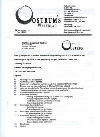 Oostrum's Weekblad 2005-04-07