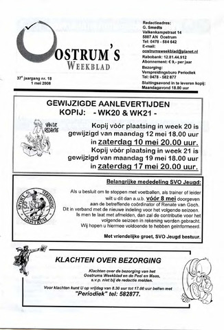 Oostrum's Weekblad 2008-05-01