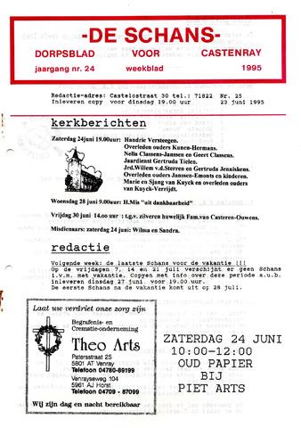 Castenrays dorpsblad De Schans 1995-06-23