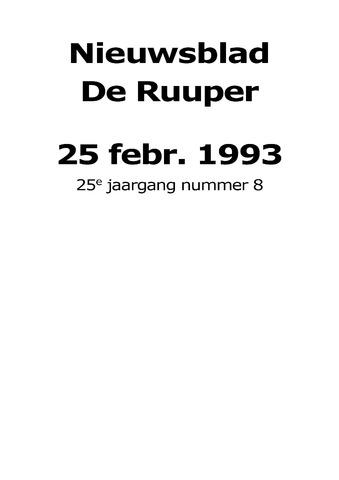 Dorpsblad Leunen-Veulen-Heide 1993-02-25