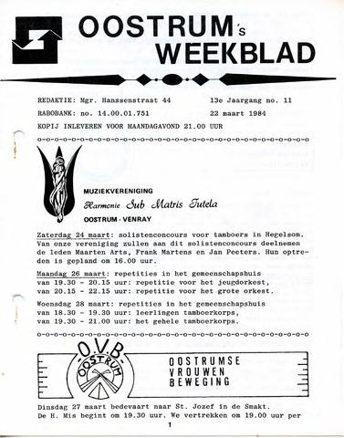 Oostrum's Weekblad 1984-03-22