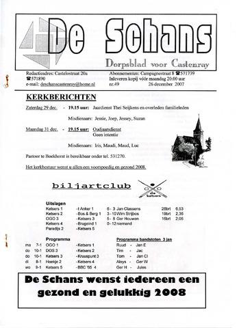 Castenrays dorpsblad De Schans 2007-12-26