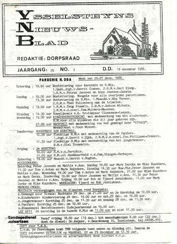 Ysselsteyns Nieuwsblad 1986-12-19
