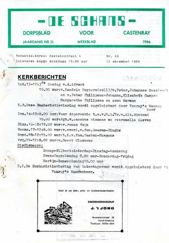 Castenrays dorpsblad De Schans 1986-12-12