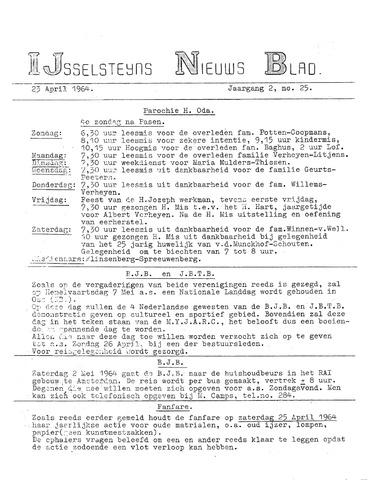 Ysselsteyns Nieuwsblad 1964-04-23
