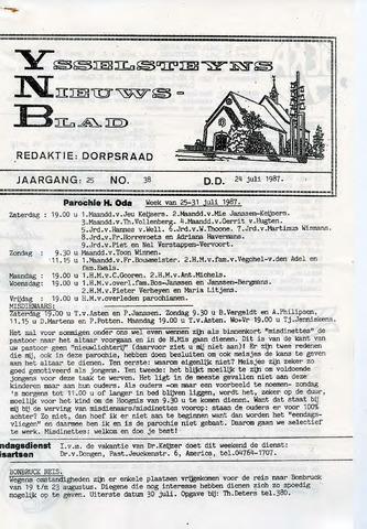 Ysselsteyns Nieuwsblad 1987-07-24
