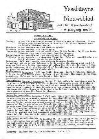 Ysselsteyns Nieuwsblad 1973-05-11