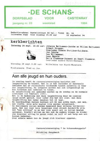 Castenrays dorpsblad De Schans 1994-09-23