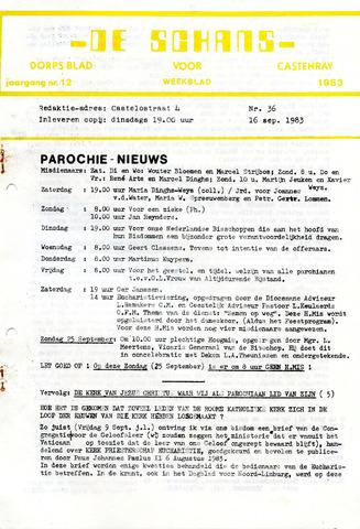 Castenrays dorpsblad De Schans 1983-09-16
