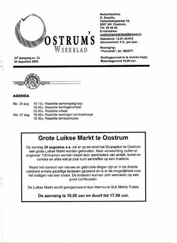 Oostrum's Weekblad 2005-08-25