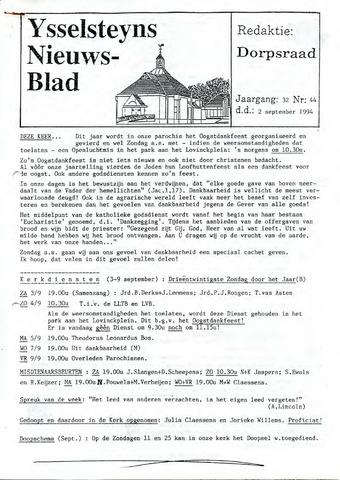 Ysselsteyns Nieuwsblad 1994-09-02