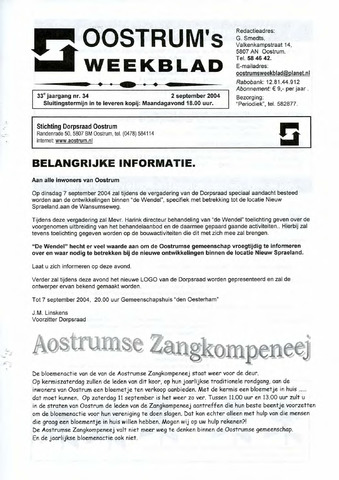Oostrum's Weekblad 2004-09-02