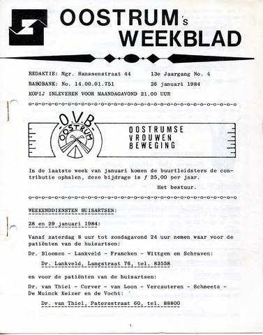 Oostrum's Weekblad 1984-01-26