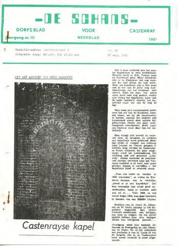 Castenrays dorpsblad De Schans 1981-08-28