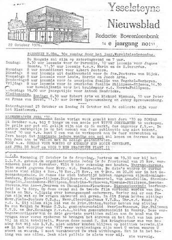 Ysselsteyns Nieuwsblad 1976-10-22