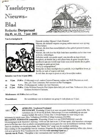 Ysselsteyns Nieuwsblad 2002-06-07