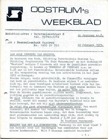 Oostrum's Weekblad 1973-02-23