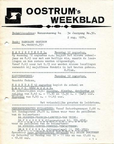 Oostrum's Weekblad 1974-08-02