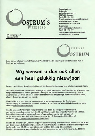 Oostrum's Weekblad 2008-01-03