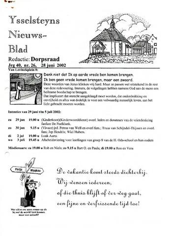 Ysselsteyns Nieuwsblad 2002-06-28