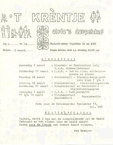 Oirlo's dorpsblad 't Krèntje 1977-03-03