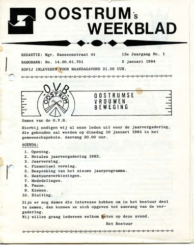 Oostrum's Weekblad 1984