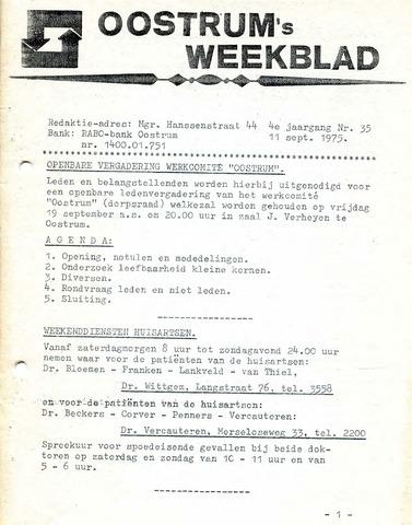 Oostrum's Weekblad 1975-09-11