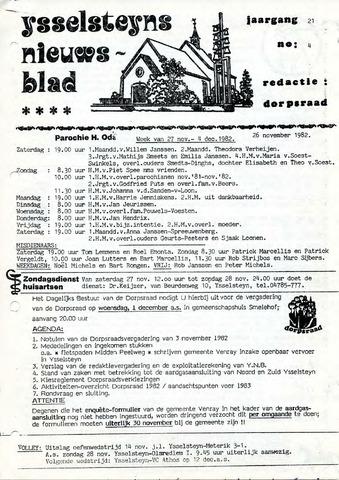 Ysselsteyns Nieuwsblad 1982-11-26