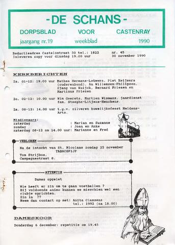 Castenrays dorpsblad De Schans 1990-11-30