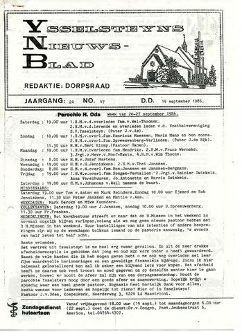 Ysselsteyns Nieuwsblad 1986-09-19