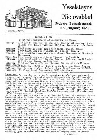 Ysselsteyns Nieuwsblad 1973-01-05