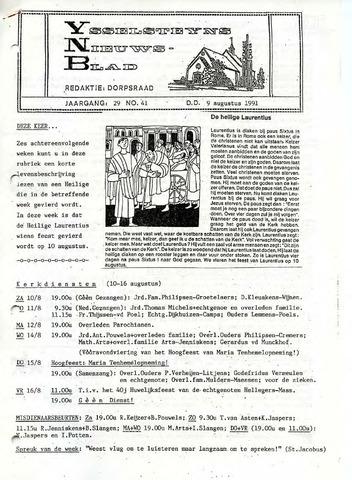 Ysselsteyns Nieuwsblad 1991-08-09