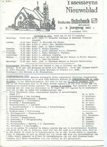 Ysselsteyns Nieuwsblad 1979-11-09