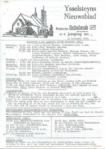 Ysselsteyns Nieuwsblad 1981-12-11