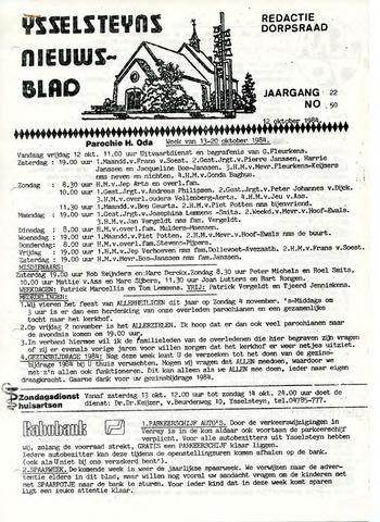 Ysselsteyns Nieuwsblad 1984-10-12