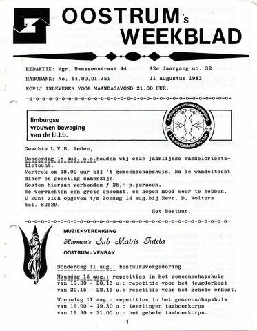 Oostrum's Weekblad 1983-08-11