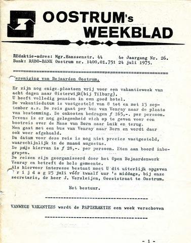 Oostrum's Weekblad 1975-07-24