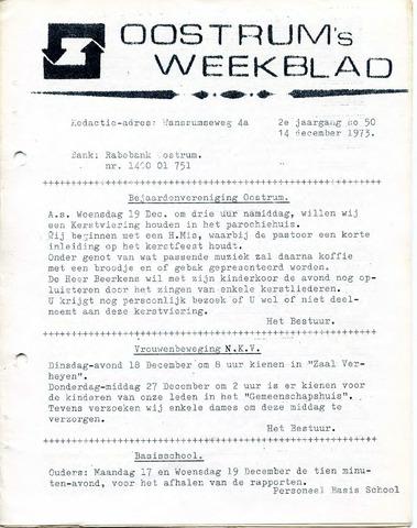 Oostrum's Weekblad 1973-12-14