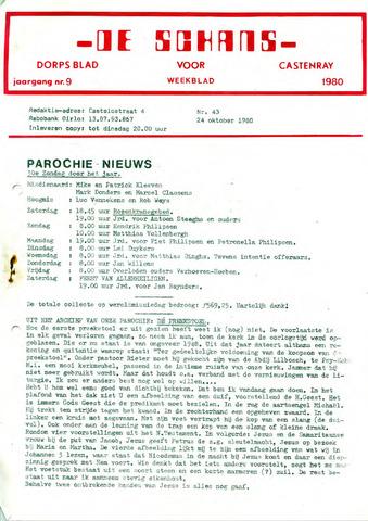 Castenrays dorpsblad De Schans 1980-10-24
