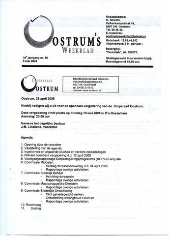 Oostrum's Weekblad 2005-05-05