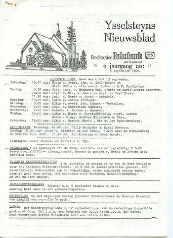 Ysselsteyns Nieuwsblad 1980-09-05